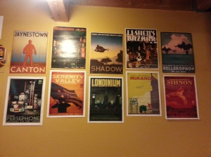 A sampling of geek related wall decoration...