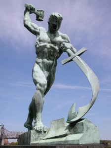 Swords into plowshares...