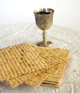 wine and matzah...