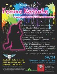 Femme Karaoke flyer